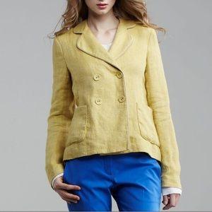 Theory Linen Blazer Yellow Medium